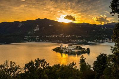 San Giulio Island Sunset Hdr Version-Robik70-Photographic Print