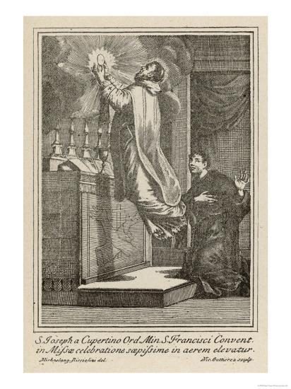 San Giuseppe di Copertino is Levitated to the Altar While He Celebrates Mass--Giclee Print