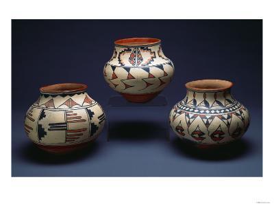 San Ildefonso Pueblo Pottery--Giclee Print
