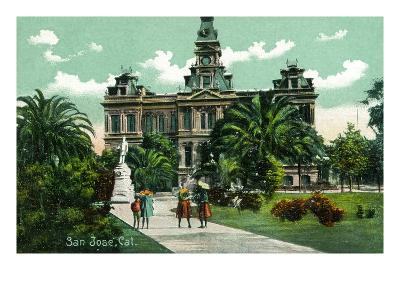 San Jose, California - Exterior View of City Hall-Lantern Press-Art Print