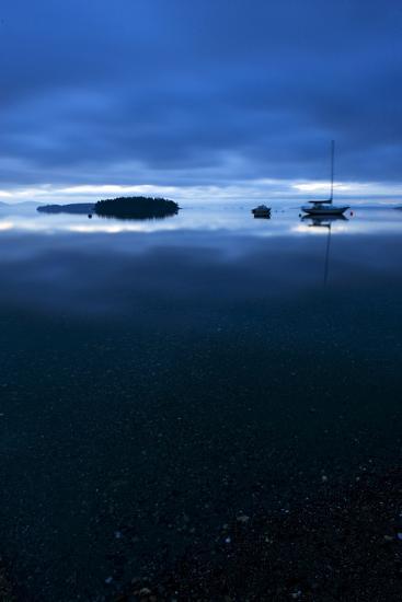 San Juan Islands Scenic with Sailboat at Twilight-Keith Ladzinski-Photographic Print