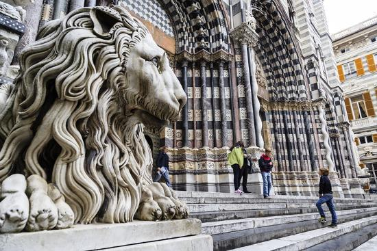 San Lorenzo Cathedral, Genoa, Liguria, Italy, Europe-Yadid Levy-Photographic Print
