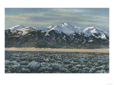 San Luis Valley, Colorado - Mt. Sierra Blanca View-Lantern Press-Art Print