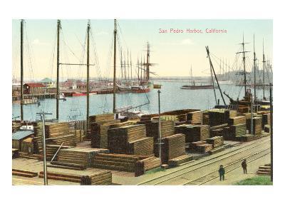 San Pedro Harbor, California--Art Print