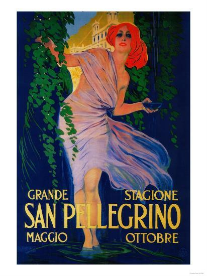 San Pellegrino Vintage Poster - Europe-Lantern Press-Art Print