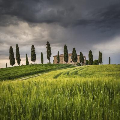 San Quirico D'Orcia, Tuscany, Italy. Farmhouse at Sunset.-ClickAlps-Photographic Print