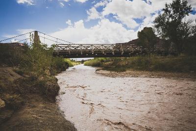 San Rafael Swell Swinging Bridge, Built By CCC, Aid Cattlemen Crossing Livestock Across River, Utah-Louis Arevalo-Photographic Print