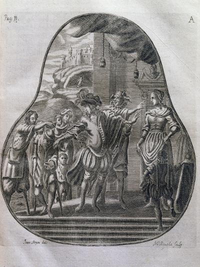 San Romedius Distributing His Wealth to Poor, Italy, 17th Century--Giclee Print