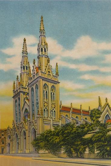 'San Roque Church, Barranquilla', c1940s-Unknown-Giclee Print