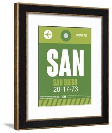 SAN San Diego Luggage Tag 2-NaxArt-Framed Art Print