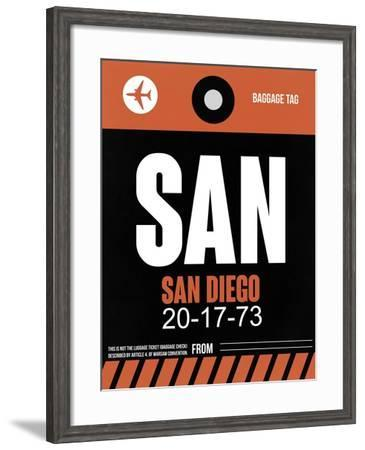 SAN San Diego Luggage Tag 3-NaxArt-Framed Art Print
