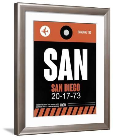SAN San Diego Luggage Tag 3-NaxArt-Framed Art Print
