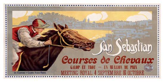 San Sebastian / Courses De Chevaux--Giclee Print