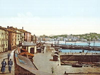 San Sebastián Harbour, Spain, 1890-1900--Photographic Print