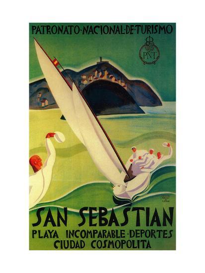 San Sebastian Vintage Poster - Europe-Lantern Press-Premium Giclee Print