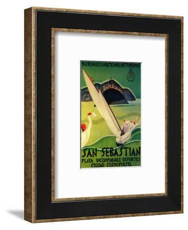 San Sebastian Vintage Poster - Europe-Lantern Press-Framed Art Print