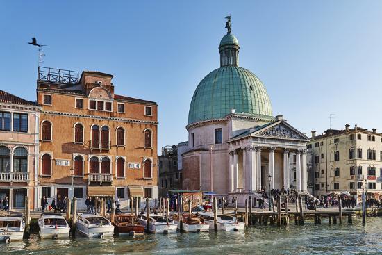 San Simeone Piccolo church on the Grand Canal, Venice, UNESCO World Heritage Site, Veneto, Italy, E-Marco Brivio-Photographic Print