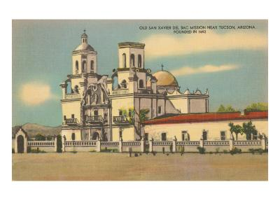 San Xavier del Bac Mission, Tucson, Arizona--Art Print