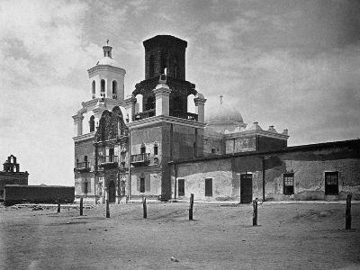 San Xavier Mission under a Clear Arizona Sky--Photographic Print