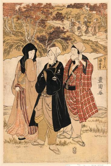 San Yakusha Kaian-Ji No Momijigari-Utagawa Toyokuni-Giclee Print
