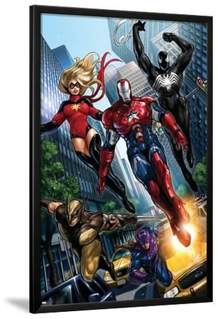 Ms. Marvel No.44 Group: Iron Patriot, Wolverine, Hawkeye, Ms. Marvel and Spider-Man