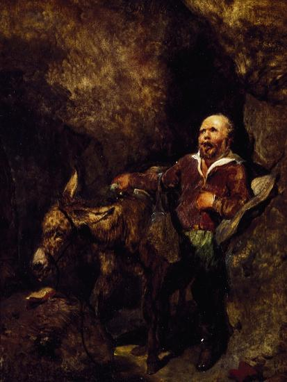 Sancho Panza and His Donkey-Edwin Henry Landseer-Giclee Print