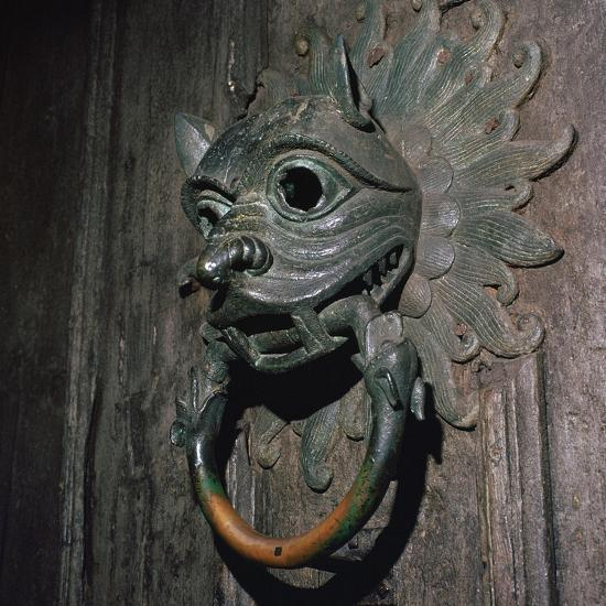 Sanctuary Knocker from Durham Cathedral, 12th century-Unknown-Giclee Print