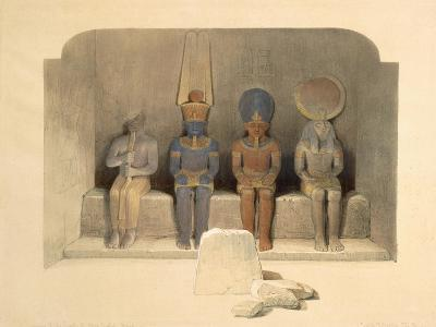 Sanctuary of the Temple of Abu Simbel, from Egypt and Nubia, Vol.1-David Roberts-Giclee Print