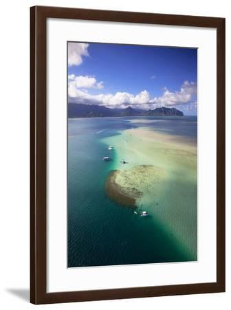 Sand Bar, Kaneohe Bay, Oahu, Hawaii, USA-Douglas Peebles-Framed Photographic Print