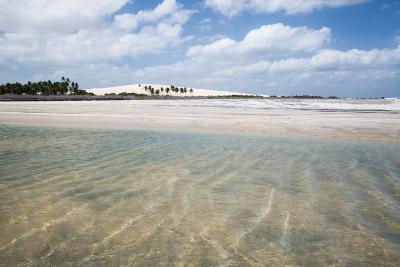Sand Blowing over a Desert-Like Beach in Jericoacoara, Brazil-Alex Saberi-Photographic Print