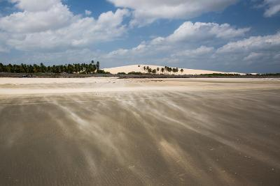 Sand Blowing over a Desert-Like Beach in Jericoacoara, Brazil-Alex Saberi-Photographic Print