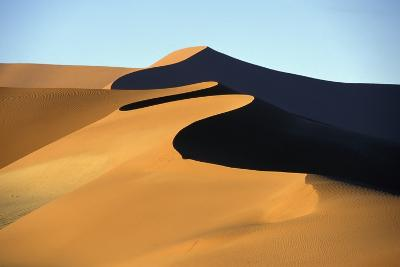Sand Dune Against Clear Sky in Namib-Naukluft National Park-Design Pics Inc-Photographic Print