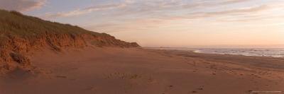 Sand Dunes Along an Empty Beach Reflect the Sunset, Prince Edward Island National Park, Canada-Taylor S^ Kennedy-Photographic Print