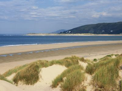 Sand Dunes and Borth Beach, Ynyslas, Borth, Dyfed, Wales, United Kingdom, Europe-Pearl Bucknall-Photographic Print