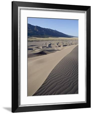 Sand Dunes at Dawn, Great Sand Dunes Narional Park and Preserve, Colorado, USA-James Hager-Framed Photographic Print