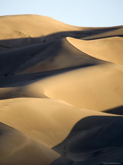Sand Dunes at Sunset, Colorado-Michael S^ Lewis-Photographic Print