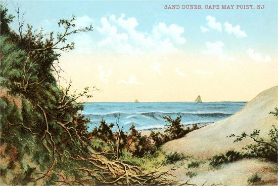 Sand Dunes, Cape May Point--Art Print