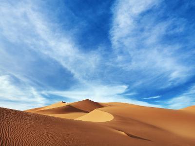 Sand dunes in Erg Admer in Algeria-Frank Krahmer-Photographic Print