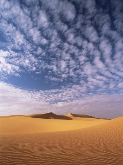 Sand Dunes in Erg Chebbi Sand Sea, Sahara Desert, Near Merzouga, Morocco, North Africa, Africa-Lee Frost-Photographic Print