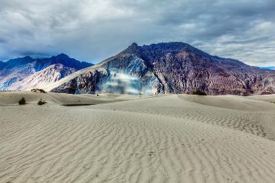 Sand Dunes in Himalayas. Hunder, Nubra Valley, Ladakh-f9photos-Photographic Print