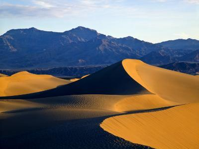 Sand Dunes in Mesquite Flat, Death Valley National Park, California, USA-Bernard Friel-Photographic Print