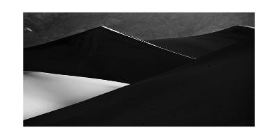 Sand Dunes Panorama in Black & White, Death Valley-Steve Gadomski-Photographic Print