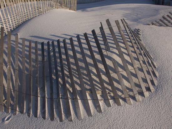 Sand Fence on the Beach in Destin, Florida-Marc Moritsch-Photographic Print