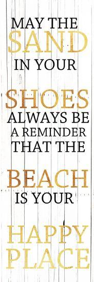 Sand In Your Shoes Gold-Sheldon Lewis-Art Print