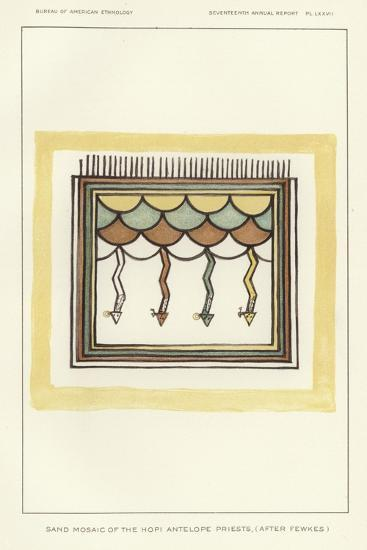 Sand Mosaic of the Hopi Antelope Priests--Giclee Print