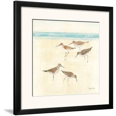 Sand Pipers Square II-Avery Tillmon-Framed Art Print