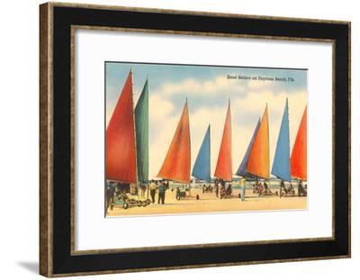 Sand Sailers, Daytona Beach, Florida--Framed Art Print