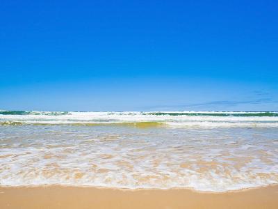 Sand Sea and Sky of Seventy Five Mile Beach, Fraser Island, UNESCO World Heritage Site, Australia-Matthew Williams-Ellis-Photographic Print