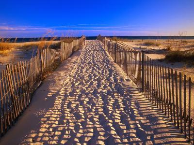 Sand Trail on Santa Rosa Island-Joseph Sohm-Photographic Print