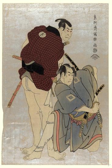 Sandaime Otani Oniji Shodai Ichikawa Omezo-Toshusai Sharaku-Giclee Print